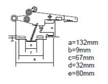 mechanizmus_dveri_vykres_s_parametrami